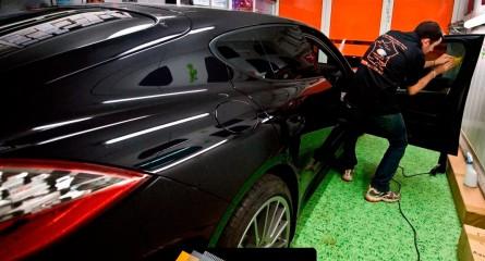 Vitre teintée sur Porsche Panamera