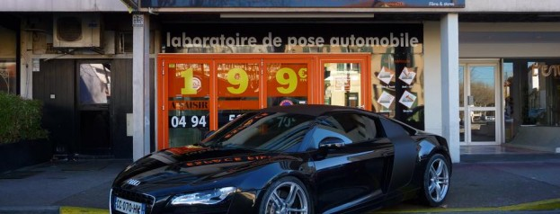 r8 gt cover carbone